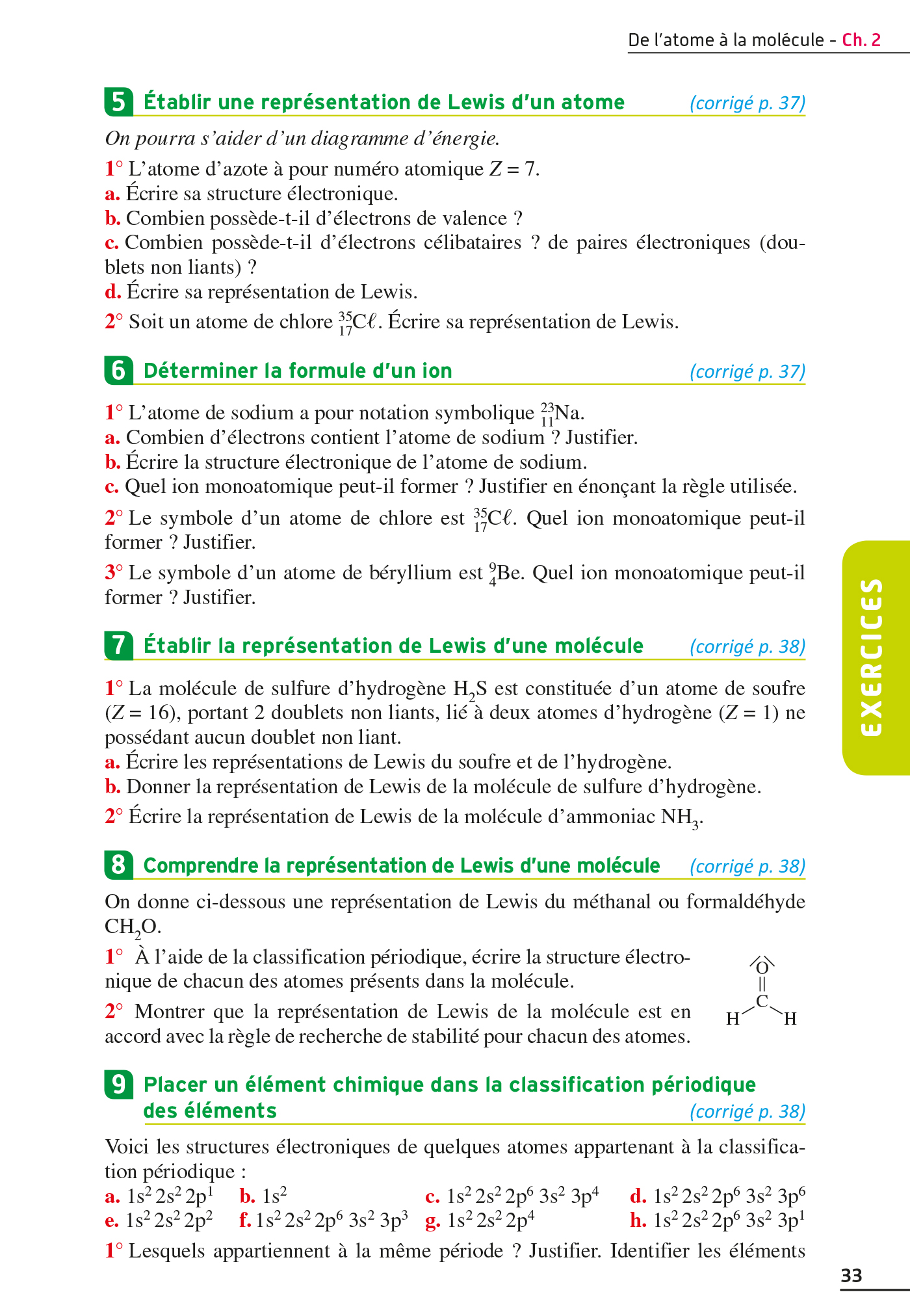 Exos Resolus Physique Chimie 2nde 00 Grand Format Broche Hachette Education Enseignants