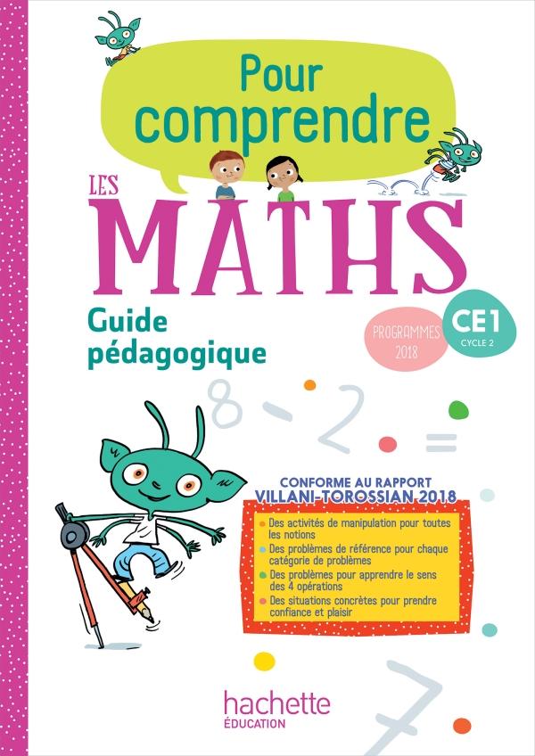 Pour comprendre les maths CE1 - Guide pédagogique - Ed. 2019 - 00- Grand format - Broché ...