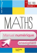 Maths 1re Bac Pro Tertiaire (C) Ress prat - Manuel numérique enseignant simple - Ed. 2014
