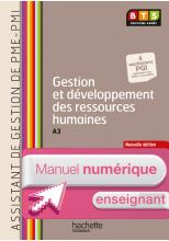 Gestion dévelop ress humaines (A3), BTS AG PME-PMI - Manuel numérique enseignant simple - Ed. 2014