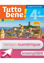 Version numérique enseignant cahier d'activités Tutto bene! italien cycle 4 / 4e LV2 - éd. 2017