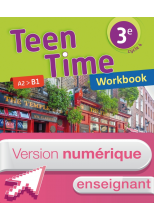 Version numérique enseignant Workbook Teen Time anglais cycle 4 / 3e - éd. 2017