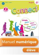 Manuel numérique Anglais Connect 4e (Palier 2 - Année 1) - Licence élève - Edition 2008