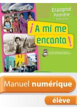 Manuel numérique A mi me encanta Espagnol 1re - Licence élève - Edition 2011