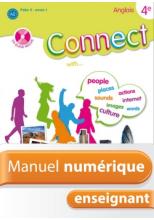 Manuel numérique Connect 4e (Palier 2 - Année 1) - Anglais - Licence enseignant - Edition 2008