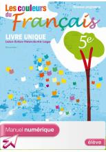 Manuel numérique Les couleurs du Français 5e - Licence élève - Edition 2010