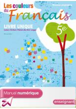 Manuel numérique enseignant Les couleurs du Français 5e - Edition 2010