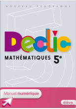 Manuel numérique Déclic Maths 5e - Licence élève - ed. 2010