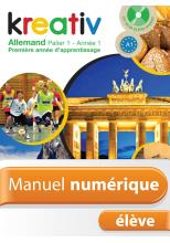 Manuel numérique Kreativ allemand Palier 1 Année 1 - Licence élève - Edition 2013