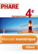 Manuel numérique Phare Mathématiques 4e - Licence élève - Edition 2011