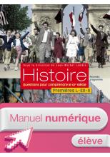 Manuel numérique Histoire 1res ES/L - Licence élève - Edition 2011