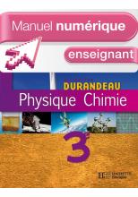Manuel numérique Physique-Chimie 3e - Licence enseignant - Edition 2008