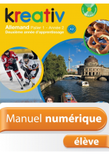 Manuel numérique Kreativ allemand Palier 1 Année 2 - Licence élève - Edition 2014