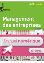 Enjeux Repères - Management entreprises BTS 2e année - Manuel numérique élève simple - Ed. 2015