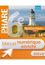 Manuel numérique Phare mathématiques cycle 3 / 6e - Licence élève enrichie - éd. 2016