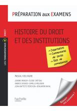 Préparation aux examens, Histoire du droit et des institutions