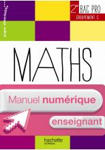 Ressources & Pratiques Maths 2de Bac Pro Gpts C - Manuel numérique enseignant simple - Ed. 2013