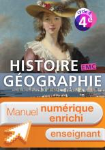 Manuel numérique Histoire-Géographie-EMC cycle 4 / 4e - Licence enseignant enrichie - Ed 2016