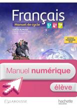 Français 5e - 4e - 3e (cycle 4) - Manuel numérique élève enrichi - Éd. 2016