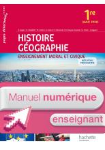 Histoire - Géo - Enseignement moral et civique 1re Bac Pro- Manuel numérique enseignant simple