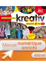 Manuel numérique Kreativ allemand cycle 4 / 5e LV2 - Licence élève enrichie - éd. 2016