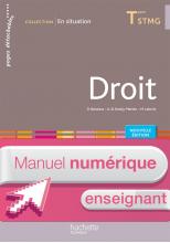 En situation Droit Terminale STMG - Manuel numérique enseignant simple - Éd. 2016