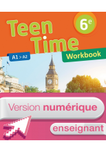 Version numérique enseignant workbook Teen Time anglais cycle 3 / 6e - éd. 2017