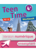 Version numérique enseignant Workbook Teen Time anglais cycle 4 / 4e - éd. 2017
