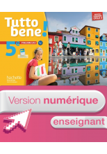 Version numérique enseignant cahier Tutto bene! italien cycle 4 / 5e LV2 - éd. 2016