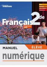 Manuel numérique L'écume des lettres 2nde - Licence élève - éd. 2019