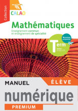 Calao Mathématiques Terminale spécialité STI2D, STL - Manuel numérique élève - Éd. 2020