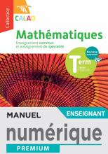 Calao Mathématiques Terminale spécialité STI2D, STL - Manuel numérique enseignant - Éd. 2020