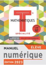Barbazo Mathématiques Spécialité terminales - Manuel numérique élève premium - Ed. 2020