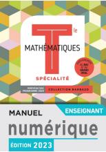 Barbazo Mathématiques Spécialité terminales - Manuel numérique professeur premium - Ed. 2020