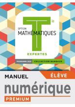 Barbazo Mathématiques Expertes terminales - Manuel numérique élève premium - Ed. 2020