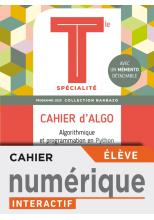 Barbazo Cahier d'Algo Mathématiques terminales - Manuel numérique élève premium - Ed. 2020
