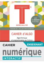 Barbazo Cahier d'Algo Mathématiques terminales - Manuel numérique professeur premium - Ed. 2020