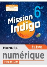 Mission Indigo 6e - Manuel numérique élève - Ed. 2021