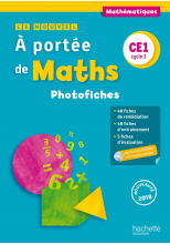 Le Nouvel A portée de maths CE1 - Photofiches + CD - Ed. 2018