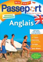 Passeport - Anglais de la 3e à la 2de - Cahier de vacances 2021