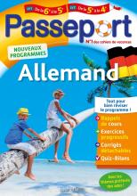 Passeport - Allemand de la 6e à la 5e ou de la 5e à la 4e - Cahier de vacances 2021