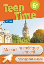 Manuel numérique Teen Time anglais cycle 3 / 6e - Licence enseignant enrichie - éd. 2017