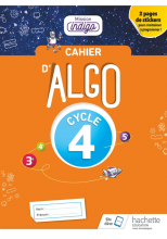Cahier Algo Mission Indigo Cycle 4 - Ed. 2018