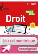 Enjeux et Repères Droit Tle STMG - Manuel numérique enseignant - Éd. 2018