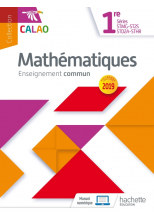 Calao Mathématiques 1re STMG, STHR, ST2S, STD2A - Livre élève - Éd. 2019