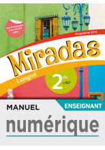 Manuel numérique Miradas 2nde - Licence enseignant - Ed. 2019