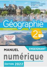 Manuel numérique Géographie 2nde - licence enseignant - Ed. 2019