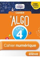 Cahier Algo Mission Indigo Cycle 4 - Ed. 2018
