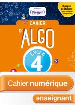 Cahier numérique Algo Mission Indigo Cycle 4 - Licence enseignant enrichie - Ed. 2018