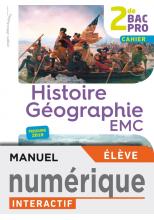 Histoire-Géographie-EMC 2de Bac Pro - Manuel interactif élève - Éd. 2019